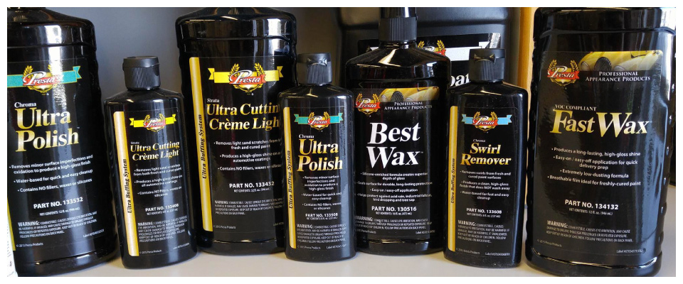 Presta auto finish products